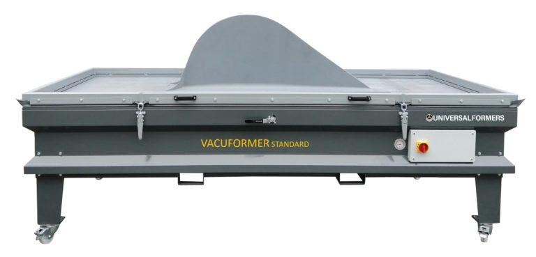 VacuformerStandard mit Werkstück rund gepresst darauf